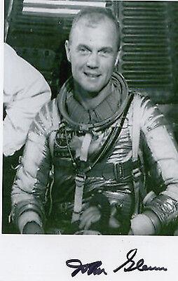 Senator John Glenn JSA SIGNED 4x6 PHOTO NASA, Mercury Seven, Jet Pilot AUTOGRAPH