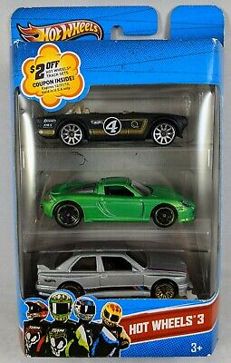 HOT WHEELS 92 BMW M3 E30 SILVER 3 PACK TRIUMPH PORSCHE CARRERA GT MULTI