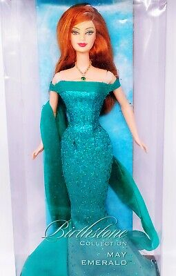 Barbie Birthstone Esmerald May Emerald Birthday Anniversary 2002 Mattel NRFB