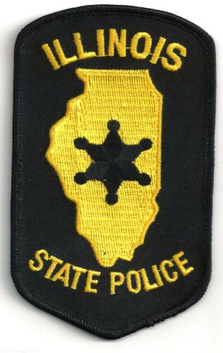 ILLINOIS STATE POLICE - SHOULDER PATCH - IRON OR SEW-ON PATCH