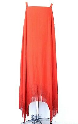 Cato Womens Dress Plus Size 22W / 24W Red Brown Fringe Cover Up Beach -