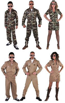 Jet Pilot Pilotenkostüm Pilotin Armee Anzug Kostüm Uniform Kleid Flieger (Armee Pilot Kostüm)
