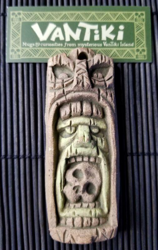 Vantiki Cannibal Ceramic Pendant Brown/Green Tiki Hawaiian No longer Available