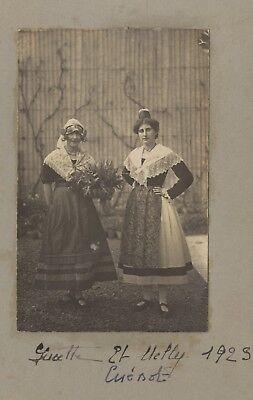 1923 Kostüme (Lucette und Nelly Kostüm traditionell Frankreich Vintage Analog 1923)