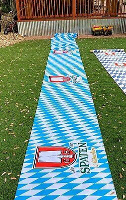 NEW Spaten Munchen Oktoberfest Beer Flag Banner Table Cloth Polyester 9ft Long