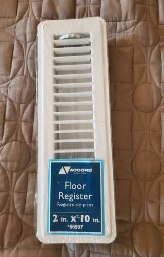 Accord Ventilation white Steel Floor Register for Duct Openi