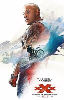 Xxx Return Of Xander Cage Movie Poster  24X36    Vin Diesel  Ruby Rose V1
