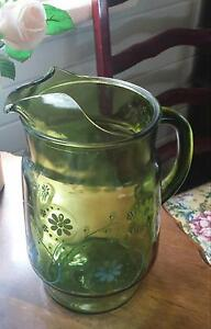 Vintage Green Glass Jug Maitland Maitland Area Preview