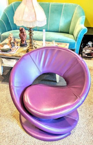 Sculptural Purple Spiral Club Chair Inspired by Louis Durot by Jaymar of Canada
