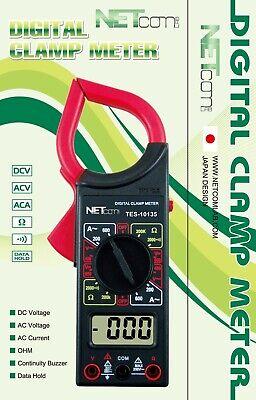 Netcom Clamp Meter Digital Buzzer Sounds Test Ampvoltohm And