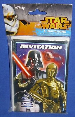 Unique Star Wars Party Invitations Package of 8 Invitations with Envelopes NIP](Unique Invitations)
