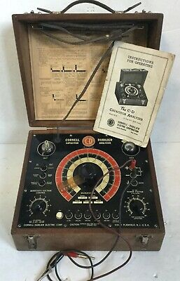 C1939 Vintage C-d Capacitor Analyzer Cornell-dubilier In Case