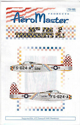 F-84G Thunderjets part 1 decals 1/72 Aero Master 72195