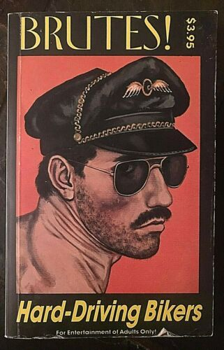 """BRUTES ! HARD-DRIVING BIKERS GAY PULP SLEAZE BR 112 PAPERBACK1991 """"RARE"""""""