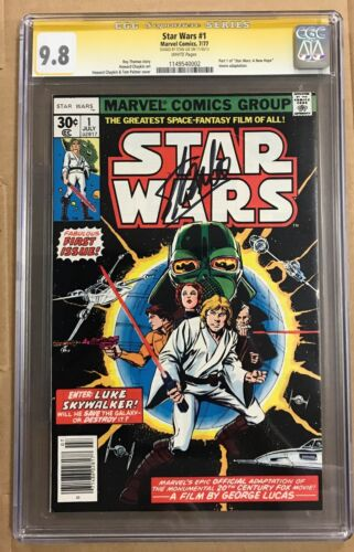 Star Wars #1 Marvel 1977 CGC 9.8 New Hope Stan Lee Auto Signature Series (BB MO)