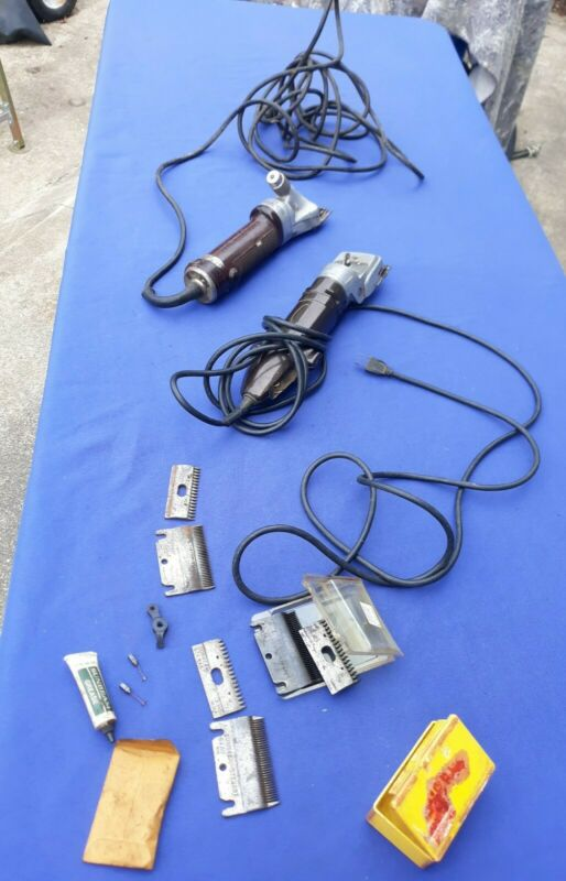 2 Sheep Shear Clippers Stewart Shearmaster 31B1 & Oster w/Extra Parts