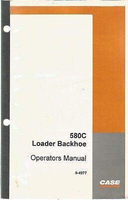 Case 580c Loader Backhoe Tractor Operators Manual