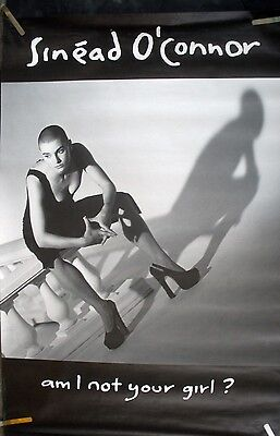 SINEAD O'CONNER I NOT YOUR GIRL 1992 VINTAGE MUSIC RECORD STORE BIG PROMO POSTER