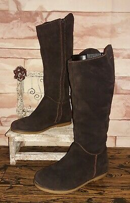 EMU Australia Kings Cross Brown Suede Sheepskin Lined  Zip Up Boots Size 8 Nice! Womens Kings Cross Boot