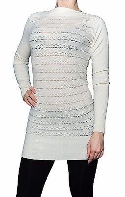 Elegante beige Tunika für Damen Größe L/XL lange Pullover zu Leggings