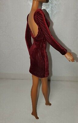 Mini dress for doll Handmade Clothes for doll 11-11.5-12in