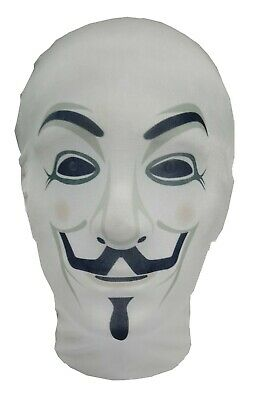 The Anonymous Mask - Guy Fawkes - V for Vendetta - Costume - Full Head Mask - The Guy Fawkes Mask