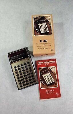 Vintage 70's Texas Instruments TI-30 LED Calculator Manual Original NIB