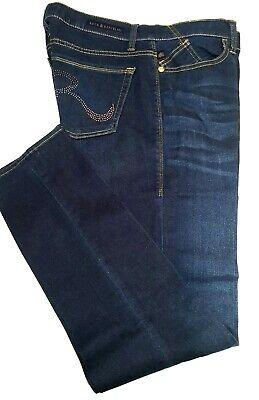 Rock & Republic Berlin Skinny Jeans Stretch Blue Studs Style R010102 Size 16 M Blue Stud Skinny Jean