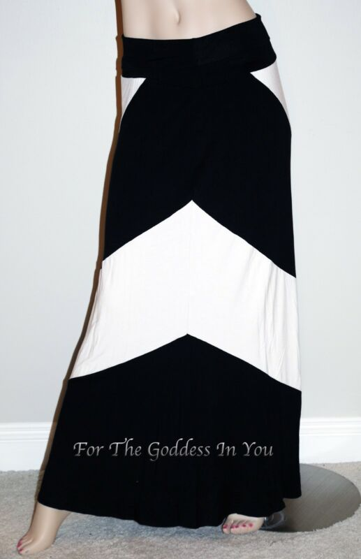 D111 AQUA BLACK CHEVRON SKIRT DRESS WEAR IT 3 WAYS WOMENS M L XL
