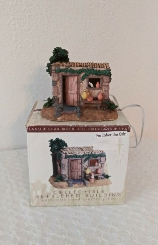 Lighted Nativity Village House In Original Box