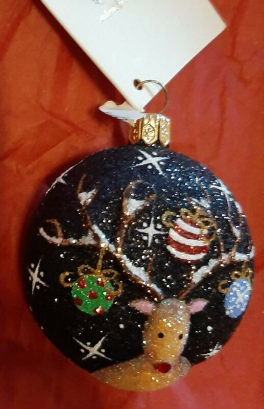 Patricia Breen REINDEER MEDALLION store exclusive event piece Fully Glittered