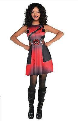 MARVEL Lady Deadpool Fit And Flare Dress - Standard Adult  - Deadpool Woman Costume