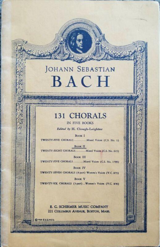 J. S. Bach 131 Chorals Sheet Music Book II Twenty-Eight Chorals Vintage Edition