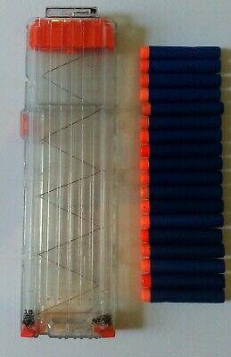 NERF N Strike Rapidstrike Clear 18 Round Magazine Clip With Darts