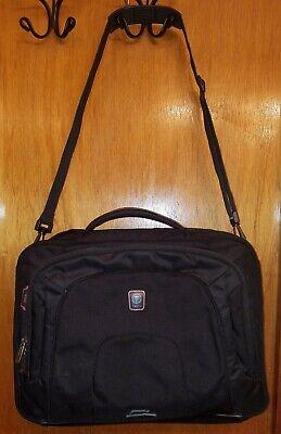 TUMI T-Tech T-Pass Check Point Friendly Black Messenger Laptop Briefcase Bag Check Point Friendly Laptop