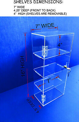 "5 x Slatwall Shelves Perspex Approx 12/"" x 6/"" Display Shelf Slatboard Shelving"