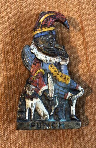 """Antique RARE Mr. Punch (Punch & Judy) Door Knocker...Miniature 3 1/2"""" Brass"""