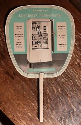 Vintage 1930's Hand Fan - Kerosene Electrolux Refridgerator, Evansville, Indiana