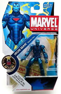 Marvel Universe IRON MAN 3.75 #009 Stealth Ops Armor Action Figure (2008) NEW!