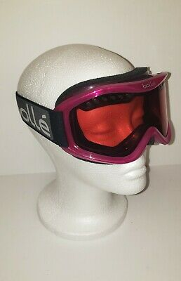 Womens Vtg Magenta Bolle Ski Goggles pink purple 1990s 90s vintage snow ski (Bolle Womens Ski Goggles)