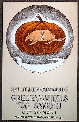 Halloween Headquarters Austin (Halloween Armadillo Headquarters Concert Poster, art by Jim)