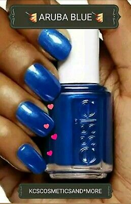 Essie Nail Polish # 784 Aruba Blue Metallic Sapphire Blue Full Size+AVON FILE!🎁