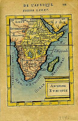 1683 Genuine Antique map Ancienne Ethiopie, Ethiopia, Africa. AM Mallet