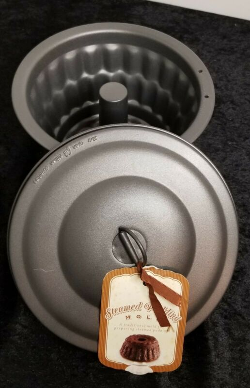 HTF NEW Williams Sonoma Metal Steamed Pudding Mold 7 cup 1.5L - 2004