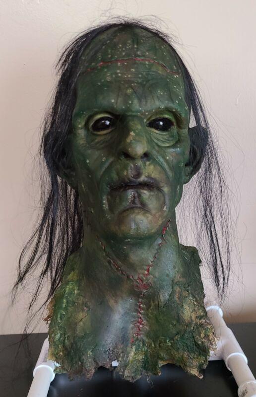Rotted Corpse - Frankenstein Head - Severed Halloween Horror Prop - 091121-02