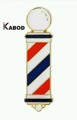 High Quality MD Barber Hand Made Barber Pole Lapel Pins w/Beautiful Clear Finish