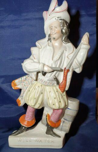 Antique Staffordshire Earthenware Will Watch , Highwayman Figure, 1860 s 15 1/2 - $19.99