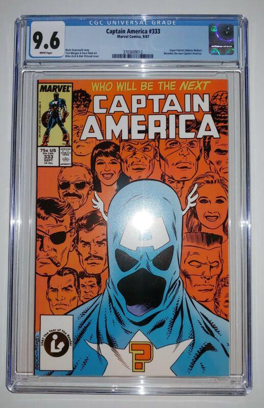 Captain America #333 - CGG 9.6 White Pages - 1st John Walker as Captain America