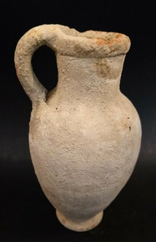 Ancient Middle Eastern/Holy Land Handled Pitcher - Circa 100 BC to 200 AD