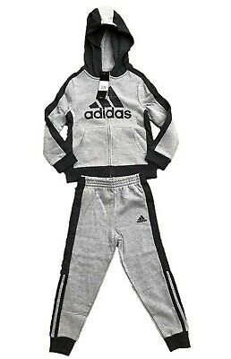 Little Boys Suits (adidas Little Boys Full Zip Grey Jogger Sweats Track Suit)